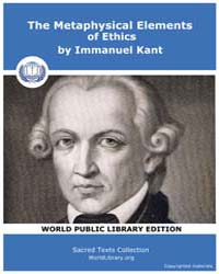 The Metaphysical Elements of Ethics by Kant, Immanuel