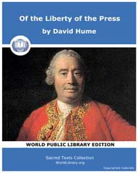 Of the Liberty of the Press by Hume, David