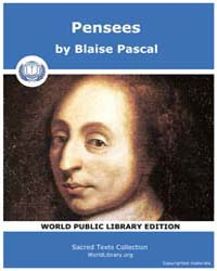 Pensees by Pascal, Blaise