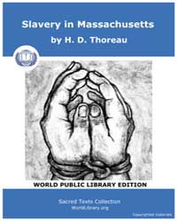 Slavery in Massachusetts by Thoreau, H. D.