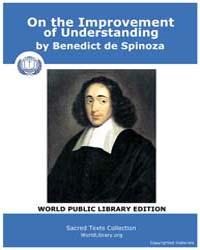 On the Improvement of Understanding by Spinoza, Benedict de