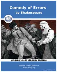Comedy of Errors by Shakespeare