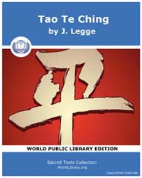 Tao Te Ching Volume Vol. 39 by Legge, J.