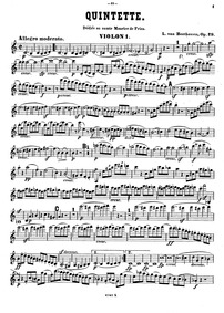String Quintet in C major, Op.29 : Violi... Volume Op.29 by Beethoven, Ludwig van