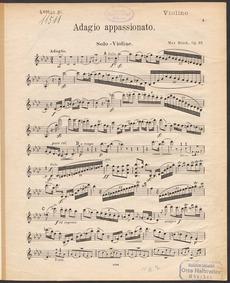 Adagio appassionato, Op.57 : Violin part Volume Op.57 by Bruch, Max