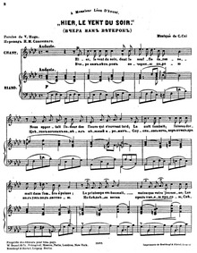 7 Mélodies (Sept mélodies) : 1. Hier le ... Volume Op.32 by Cui, César