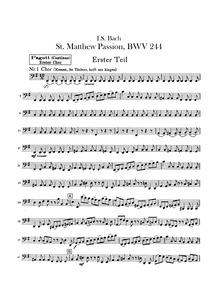 Matthäuspassion (St. Matthew Passion ; T... Volume BWV 244 ; BC D3a, BC D3b by Bach, Johann Sebastian