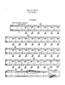 La valse (Poème chorégraphique) : Harp 1... Volume M.72 by Ravel, Maurice