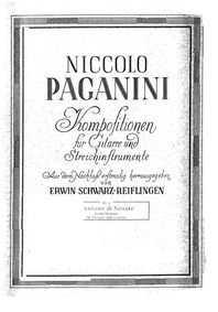 Centone di sonate, MS 112 : Guitar part Volume MS 112 by Paganini, Niccolò