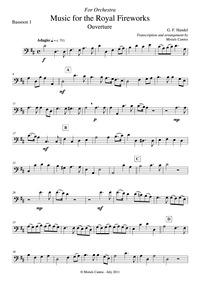 Music for the Royal Fireworks (Fireworks... Volume HWV 351 by Handel, George Frideric