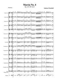 Marcia No.4, Op.167 : Complete score Volume Op.167, PP.144.5 by Ponchielli, Amilcare