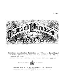 Gradus ad Parnassum, Op.52 (Gradus ad Pa... by Dont, Jakob