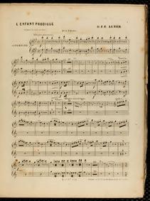 L'enfant prodigue (Opéra en cinq actes) ... Volume S41 by Auber, Daniel François Esprit