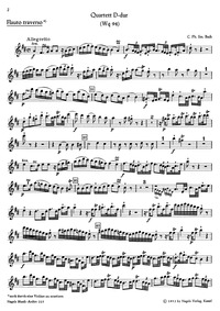 Piano Quartet in D major, Wq.94 (Quartet... Volume Wq.94 by Bach, Carl Philipp Emanuel