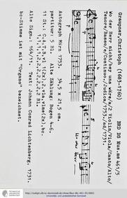 Wo der Herr nicht bei uns wäre, GWV 1124... Volume GWV 1124/53 by Graupner, Christoph