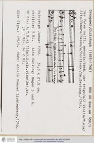 Der Vater ruft merkts doch, GWV 1117/42 ... Volume GWV 1117/42 by Graupner, Christoph