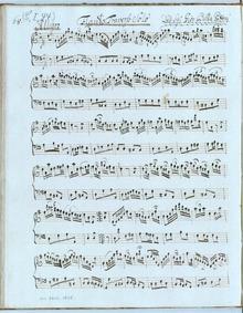 Flute Sonata in G major : Complete Score by Patoni, Giovanni Battista