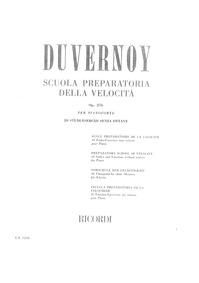 Preparatory School of Velocity, Op.276 :... Volume Op. 276 by Duvernoy, Jean-Baptiste