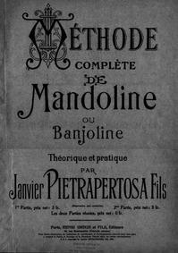 Methode complete de Mandoline ou Banjoli... by Pietrapertosa, Jean