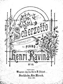 Scherzetto dans le Style ancien (Scherze... Volume Op.85 by Ravina, Jean Henri