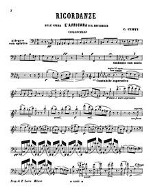 Ricordanze dell' Opera L'Africana di Mey... by Curti, Carlo