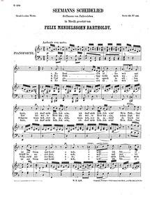 Seemans Scheidelied, WoO 20 : Complete S... Volume WoO 20 by Mendelssohn, Felix