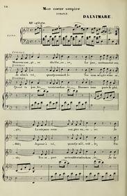 Mon coeur soupire : Complete score by Dalvimare, Martin Pierre