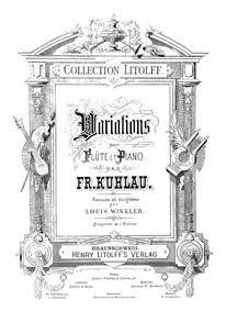 6 Variations on 'Euryanthe', Op.63 : Pia... Volume Op.63 by Kuhlau, Friedrich