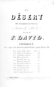 Le désert (Ode-symphonie en trois partie... by David, Félicien