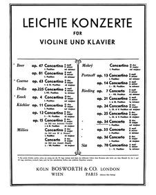 Violin Concerto No.1, Op.34 : Complete S... Volume Op.34 by Rieding, Oskar