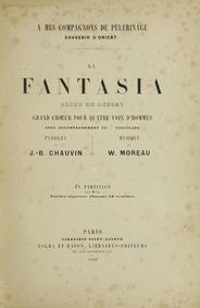 Collection des Chœurs Amusants : La Fant... by Moreau, Wulfran