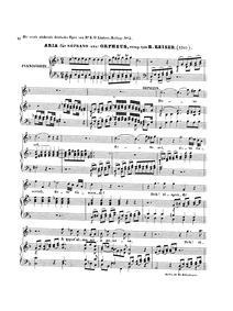 Die sterbende Eurydice : Aria: Dove sei.... by Keiser, Reinhard