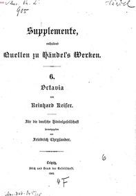 Octavia (Die römische Unruhe, oder Die e... by Keiser, Reinhard