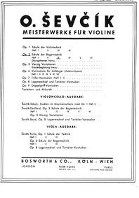 School of Bowing Technique Op.2 for Cell... Volume Op.2 by Ševčík, Otakar