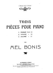 Salomé, Op.100 : Complete score Volume Op.100 by Bonis, Mel