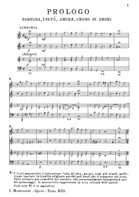 L'Incoronazione di Poppea, SV 308 : Prol... by Monteverdi, Claudio