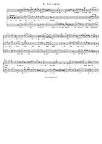 Ave regina : Complete Score by Dunstaple, John