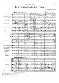 Eine vaterländische Ouvertüre (Patriotic... Volume Op.140 by Reger, Max