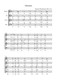 Adoramus Te : Complete score by Roussel, François