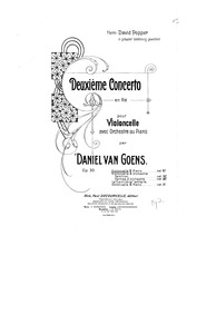 Cello Concerto No.2, Op.30 : Complete Sc... Volume Op.30 by Goens, Daniel Van