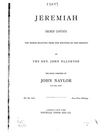 Jeremiah (Sacred Cantata) : Complete Sco... by Naylor, John