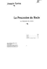 La Procesión del Rocío, Op.9 : Complete ... Volume Op.9 by Turina, Joaquín