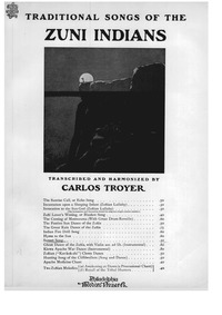 Traditional Songs of the Zuñis : Sunset ... by Troyer, Carlos
