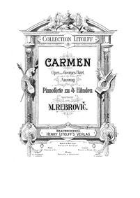 Carmen (Opéra-comique en quatre actes) :... Volume WD 31 by Bizet, Georges