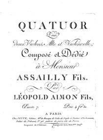 String Quartet (Quatuor pour deux violon... Volume Op.7 by Aimon, Léopold