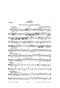 Lustige Feld-Music : Bass by Krieger, Johann Philipp
