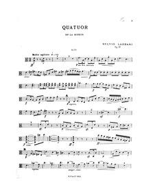 String Quartet, Op.17a : Viola Volume Op.17a by Lazzari, Sylvio