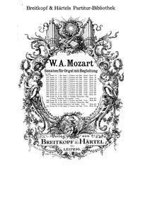 Church Sonata No.1 (Sonate für zwei Viol... Volume KV 67/41h by Mozart, Wolfgang Amadeus