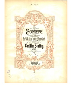 Violin Sonata No.2 in E major, Op.27 : C... Volume Op.27 by Sinding, Christian