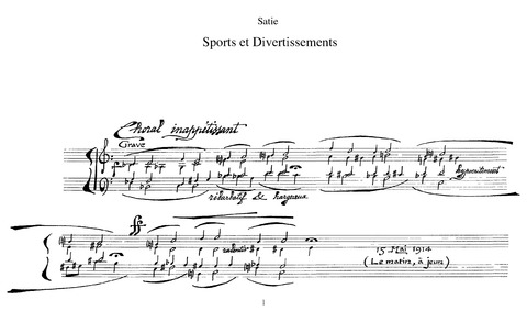 Sports et divertissements : Complete Sco... by Satie, Erik